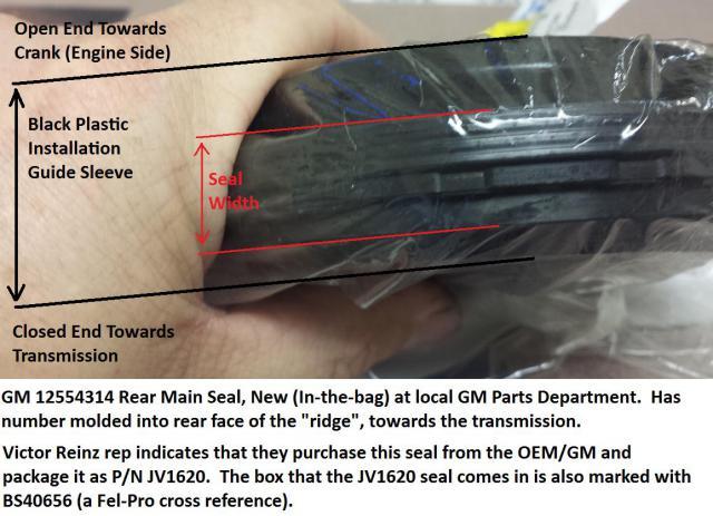LT1 Rear Main Seal Direction - LS1LT1 Forum : LT1, LS1