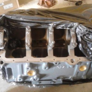 Machined engine block